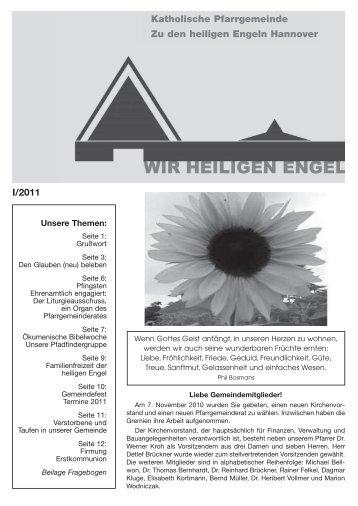 I/2011 Katholische Pfarrgemeinde Zu den heiligen Engeln Hannover
