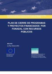 plan de cierre de programas y proyectos financiados por fonadal ...