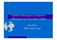 Global Strategies to Improve Adherence to Core Labour Rights