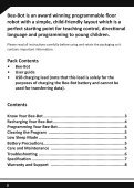 Child friendly programmable floor robot USER GUIDE - TTS - Page 2