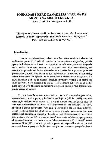 Silvopastoralismo mediterráneo con especial referencia al gana