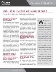 INDUSTRY EXPERT OPINION REPORT - Calkain Companies
