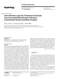 Anti-Infective Locks for Treatment of Central Line-Associated ...