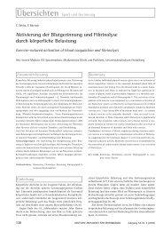 Aktivierung der Blutgerinnung und Fibrinolyse durch körperliche ...