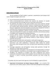 Ecological Solid Waste Management Act of 2000 Republic Act 9003 ...