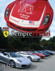 Volume 13 Issue 6 - November/December 2006 - Ferrari Club of ...