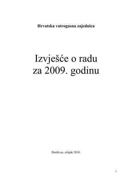 Izvješće o radu za 2009. godinu