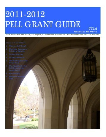 2011-2012 PELL GRANT GUIDE - UCLA Financial Aid Office