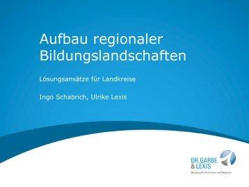 Aufbau regionaler Bildungslandschaften