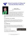 Pre-No Frills 2007 - saacurh - National Association of College and ... - Page 3