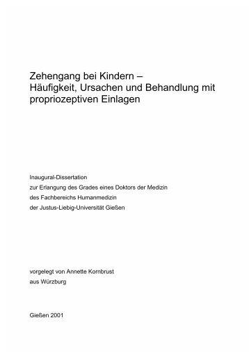 Zehengang bei Kindern – Häufigkeit, Ursachen und Behandlung mit ...