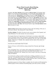 Minutes from the PA Executive Board 4/22/03 - Horace Mann School