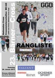 RANGLISTE - Lausanne-Sports athlétisme