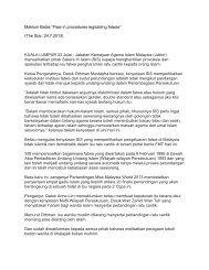 "Maklum Balas ""Flaw in procedures legislating fatwas"" (The Star ..."