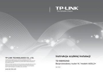 Instrukcja szybkiej instalacji - Sunnyline