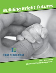 Building Bright Futures: 2007 Needs and Assets ... - First Things First