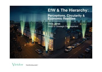 EfW & The Hierarchy: - Sustainability Live