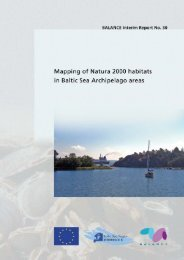 Mapping of Natura 2000 areas in Baltic Sea ... - BALANCE
