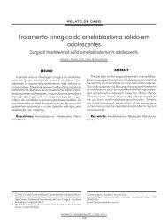 Tratamento cirúrgico do ameloblastoma sólido em ... - ABCCMF
