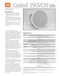 Control 19CS Spec. Sheet - Full Compass