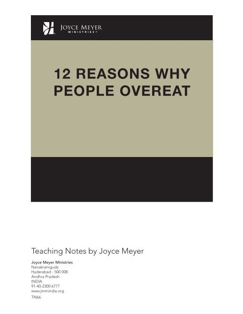 12 Reasons Why People Overeat Joyce Meyer Ministries Asia