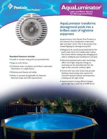 AquaLuminator® - Consolidated Pool and Spa Industries