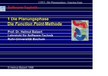 1 Die Planungsphase Die Function Point-Methode