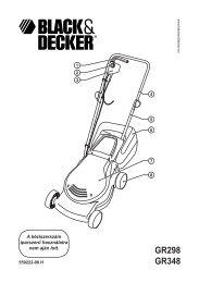 GR298 GR348 - Black and Decker
