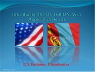 DS-160 - Embassy of the United States Ulaanbaatar, Mongolia