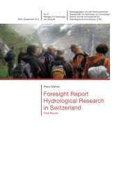 Foresight Report Hydrological Research in Switzerland - Swiss ...