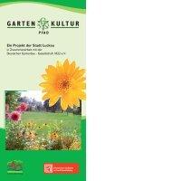 Ein Projekt der Stadt Luckau - Garten-Kultur-Pfad Luckau