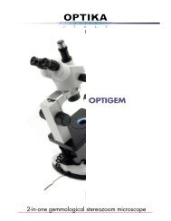 The Microscope Depot - OPTIGEM - OPTIKA