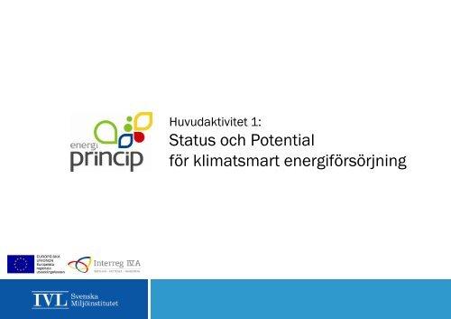 Status och Potential för klimatsmart ... - Energi PRINCIPS