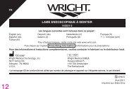 LAME ENDOSCOPIQUE À MONTER - Wright Medical Technology, Inc.
