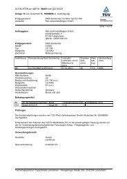 GUTACHTEN zur ABE Nr. 46460 nach §22 StVZO Anlage 14 zum ...