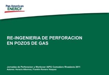 RE-INGENIERIA DE PERFORACION EN POZOS DE GAS
