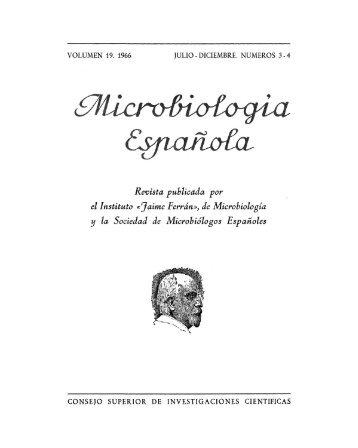 Vol. 19 núm. 3 y 4 - Sociedad Española de Microbiología