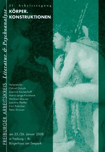 L itera tu r & P sych oa na lyse - Freiburger Arbeitskreis Literatur und ...
