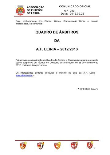 CO-050 - Associação de Futebol de Leiria