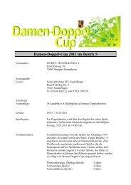 Damen-Doppel-Cup 2011 im Bezirk 5 - WTB