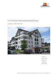 4 1/2 Zimmer Dachmaisonettewohnung - Homegate.ch