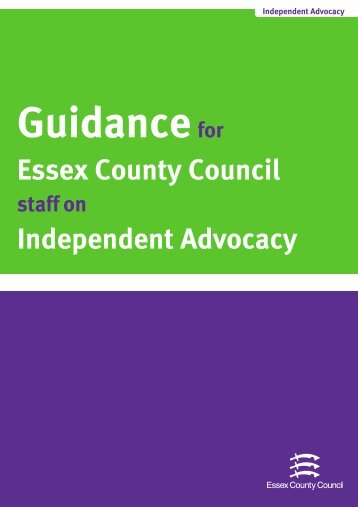 Draft Guidance for Essex County Council Staff on ... - Support