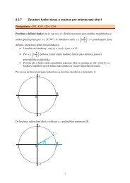 4.2.7 Zavedení funkcí sinus a cosinus pro ... - Realisticky cz