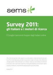 Motori di ricerca – Survey Sems FullResearch 2011 (.pdf) - Prima ...