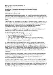 Museumsverband des Landes Brandenburg e.V. Dr. Iris Berndt ...