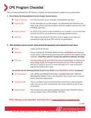 CPE Program Checklist - SmartPros