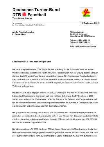 Deutscher-Turner-Bund DTB Faustball