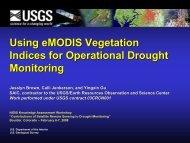 Using eMODIS eMODIS Vegetation Indices for ... - US Drought Portal