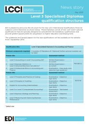 Level 3 Specialised Diplomas qualification structures - LCCI ...