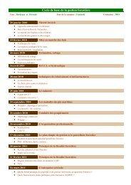 Cycle de base la gestion forestire - CRPF